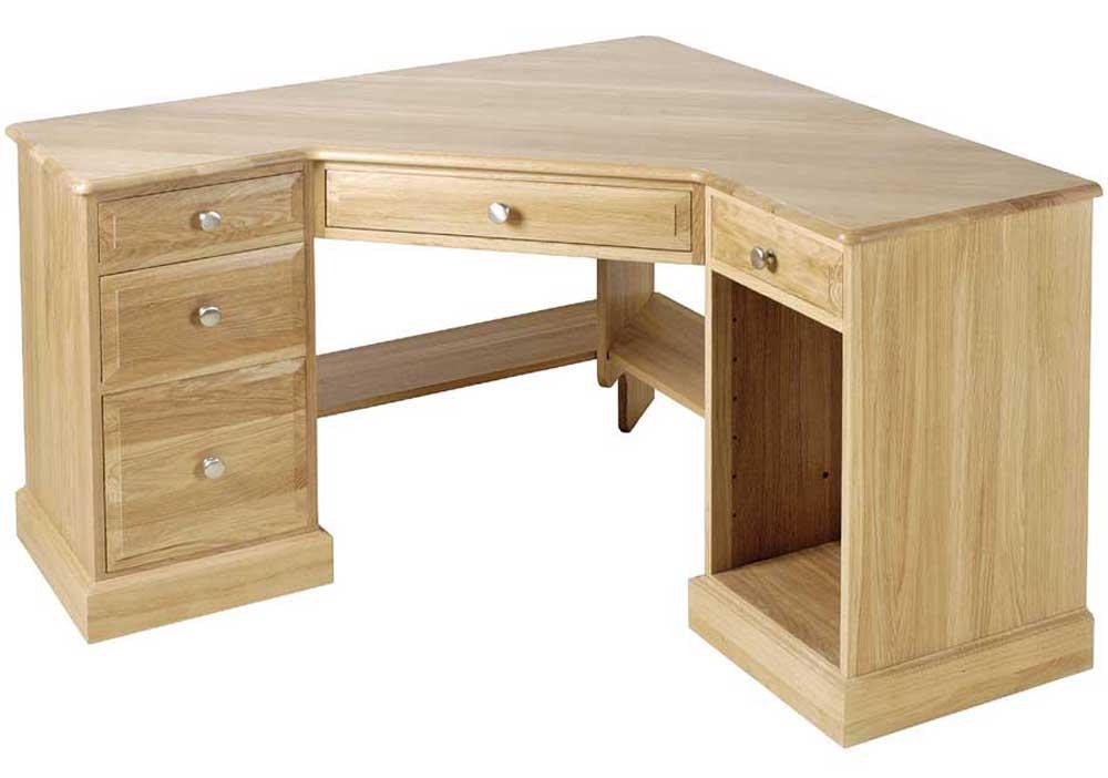 Oak Corner Desk for Home Office Improvement